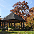 Gazebo At North Ridgeville - Autumn by Mark Madere