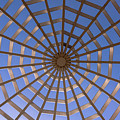 Gazebo Blue Sky Abstract by Terry DeLuco