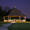 Gazebo During The Blue Moments Frankfort Il by Thomas Woolworth
