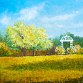 Gazebo In Garden by Douglas Castleman