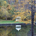 Gazebo Reflection by Faith Harron Boudreau