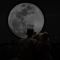 Gazing At The Moon by Aaron Shortt