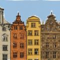 Gdansk Buildings by Alan Steele
