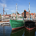 Gdansk Old Town Skyline From The Harbour by Artur Bogacki