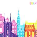 Gdansk Skyline Pop by Pablo Romero