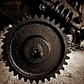 Gear And Screw Sepia 2 by Chalet Roome-Rigdon