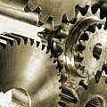 Gears And Cogwheels In Antique Look by Christian Lagereek