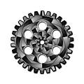 Gearwheel In Black And White by Gaspar Avila
