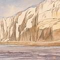 Gebel Abu Fodde By Edward Lear  1867 by Edward Lear