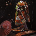 Geisha Doll In Red by Takayuki Harada