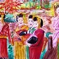 Geisha Girl Friends by Stanley Morganstein