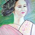 Geisha Girl Portrait II by Stanley Morganstein