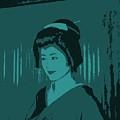 Geisha In Blue by Louise Fahy