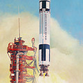 Gemini-titan Launch by Douglas Castleman