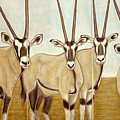Gemsboks Or 0ryxs Triptych by Isabelle Ehly