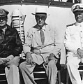 General Macarthur - President Roosevelt - Admiral Nimitz - 1944 by War Is Hell Store