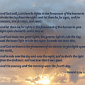 Genesis 1 14-19 ... Let There Be Lights In The Firmament Of The Heaven by Susan Savad