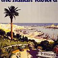 Genoa And The Italian Rivera Vintage Poster Restored by Carsten Reisinger