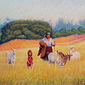 Gentle Shepherdess by Alexander Chernitsky