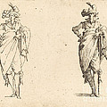 Gentleman Viewed From The Front With Hand On Hip by Jacques Callot