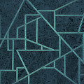 Geometric Abstraction In Blue by David Gordon