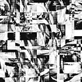 Geometric Confusion - Black And White by Shawna Rowe
