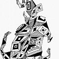 Geometric Dog by Sarah Loft