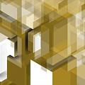Geometric Gold Composition by Alberto RuiZ