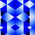 Geometric In Blue by Rafael Salazar