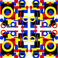 Geometric Shapes Abstract Square 2 by Andee Design