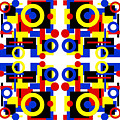 Geometric Shapes Abstract Square 3 by Andee Design