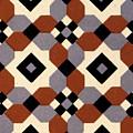 Geometric Textile Design by English School