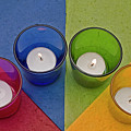 Geometrical Shapes, Colours And Candles by Ofer Zilberstein