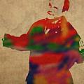 George Constanza Of Seinfeld Watercolor Portrait by Design Turnpike