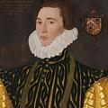 George Gower Portrait Of Thomas Slingsby 1556  1579 1577 by George Gowe
