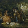 George Morland   The Anglers  Repast by George Morland