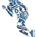 George Teague Minnesota Timberwolves Pixel Art 1 by Joe Hamilton