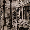 George Town, Penang, Malaysia - Atrium Of The Blue Mansion, Silverplate by Mark Forte