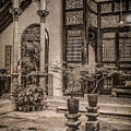 George Town, Penang, Malaysia - Courtyard Of The Blue Mansion, Silverplate by Mark Forte