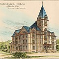 Georgia Technical School. Atlanta Georgia 1887 by Bruce and Morgan