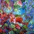 Geranium Garden by Elaine Cory