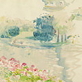Geraniums By The Lake by Berthe Morisot