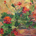 Geraniums II by Ginger Concepcion