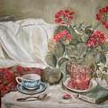 Geraniums by Joseph Sandora Jr