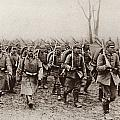German And Austrian Soldiers Marching by Vintage Design Pics
