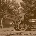 German Krupp 15cm Field Gun And Barrel Carrier 1913 by David Dunham