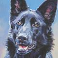 German Shepherd Black by Lee Ann Shepard
