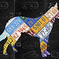 German Shepherd Dog Pet Owner Love Vintage Recycled License Plate Artwork by Design Turnpike