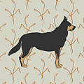 German Shepherd Dog With Field Grasses by MM Anderson
