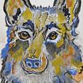 German Shepherd Painting by Ella Kaye Dickey